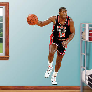 Magic Johnson: 1992 Dream Team Fathead Wall Decal
